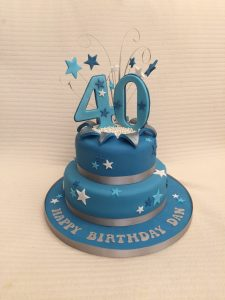 Mens 40th Birthday Cake