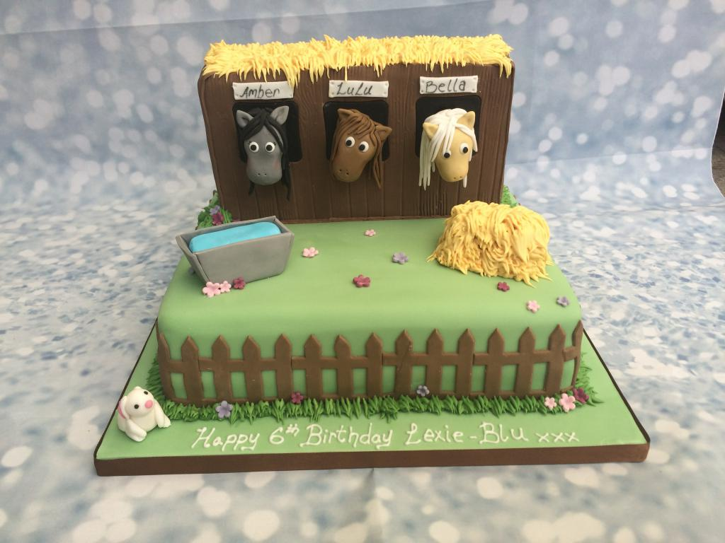 Horse Themed Birthday Cake Uk