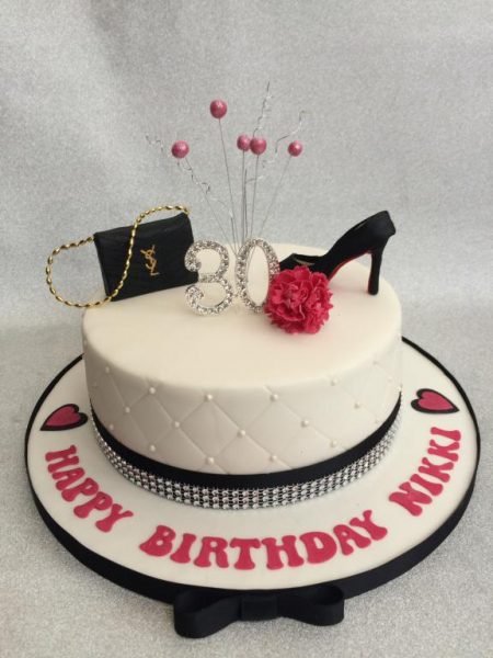 Handbag and shoe cake