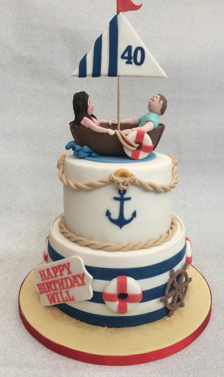 Nautical Boat Cake Cake Creations