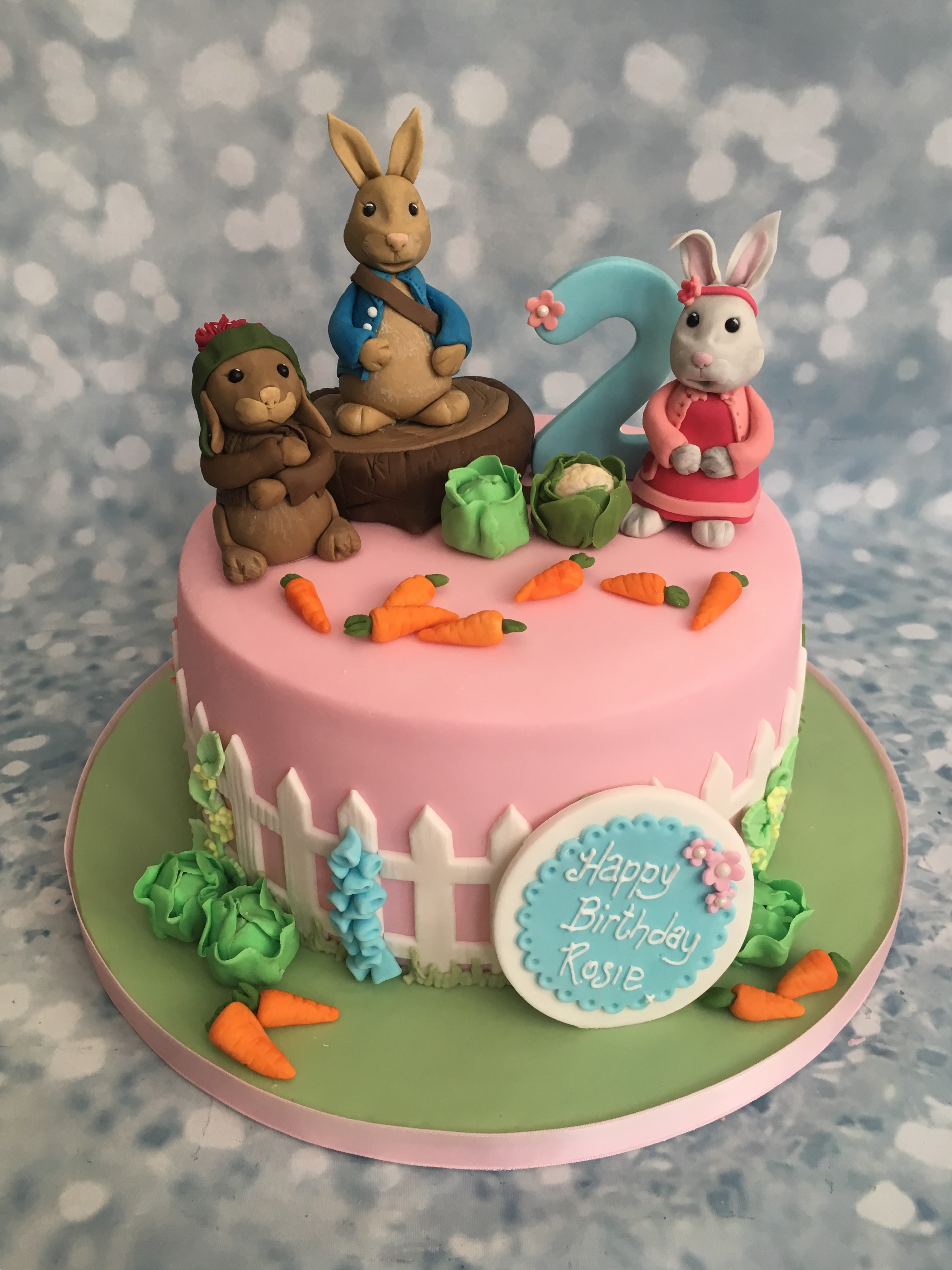 Peter Rabbit And Friends Single Tier Cake Cake Creations