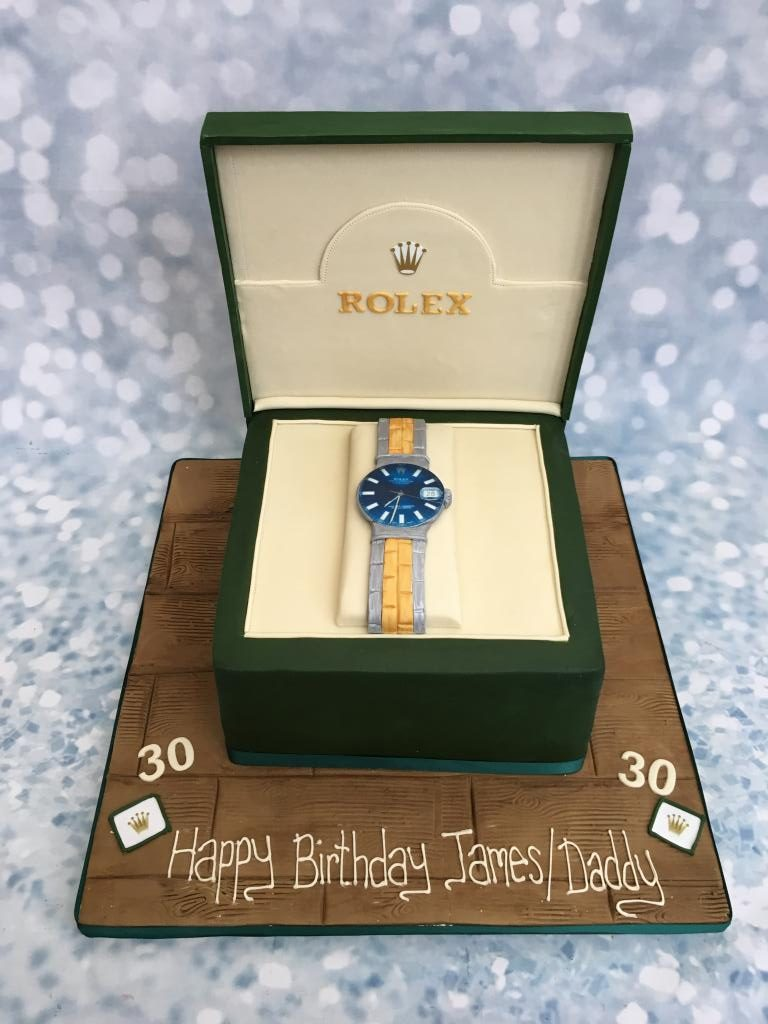 Rolex Watch Box Cake \u2013 Cake Creations