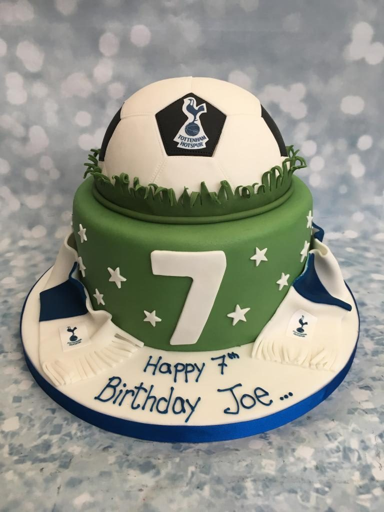 Football 2 Tier Cake With Scarf Cake Creations