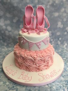 Ballet slipper baby shower